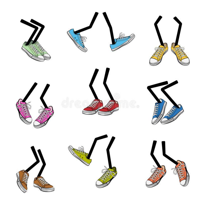 Walking Feet Stock Illustrations.