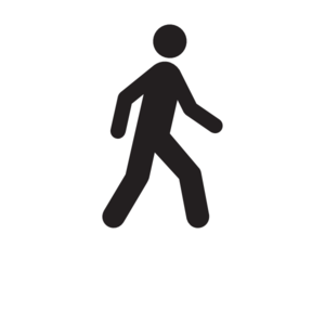 Walking Person Clipart Black And White.