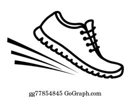 Walking Shoes Clip Art.