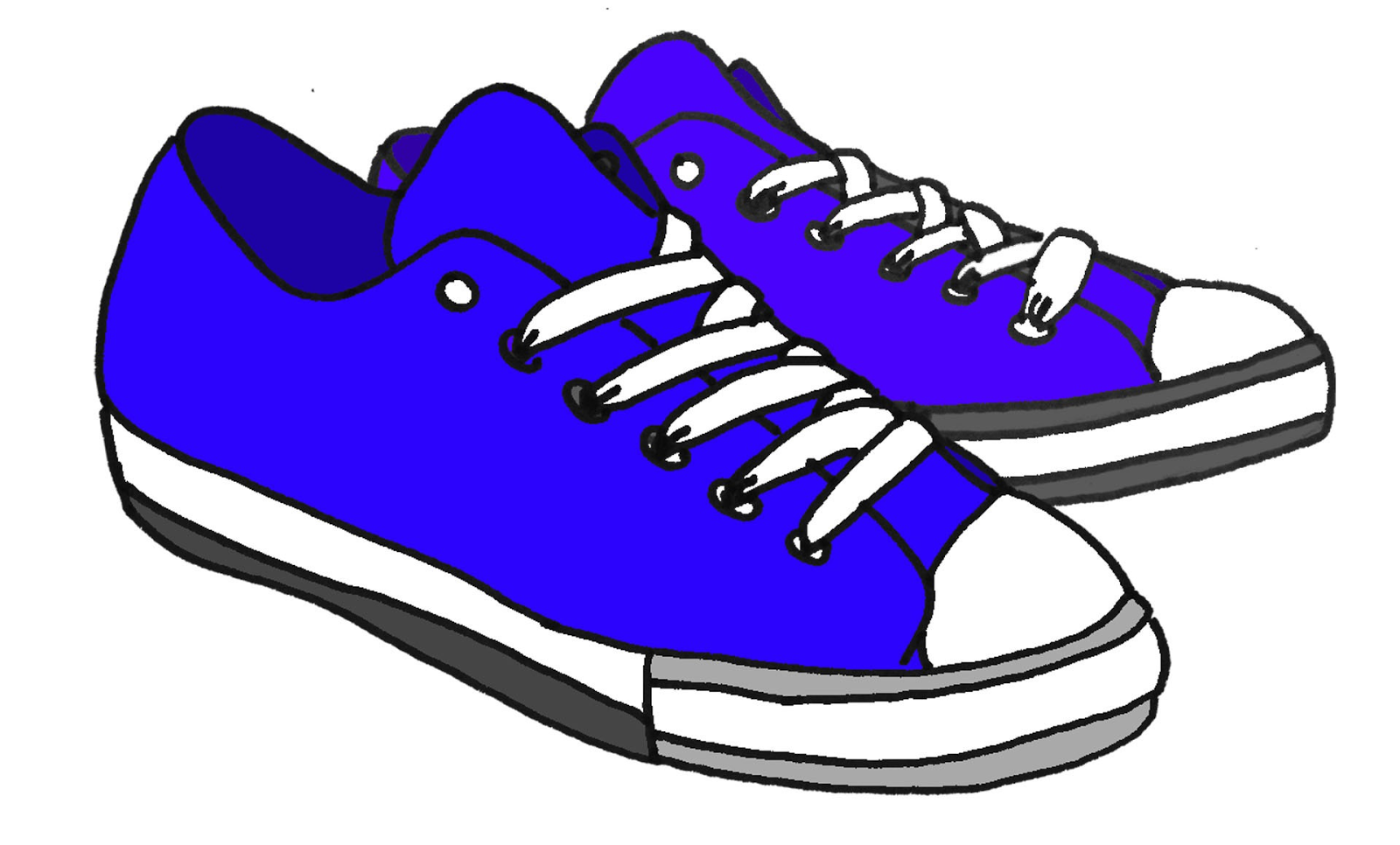 Converse shoe walking clipart kid.