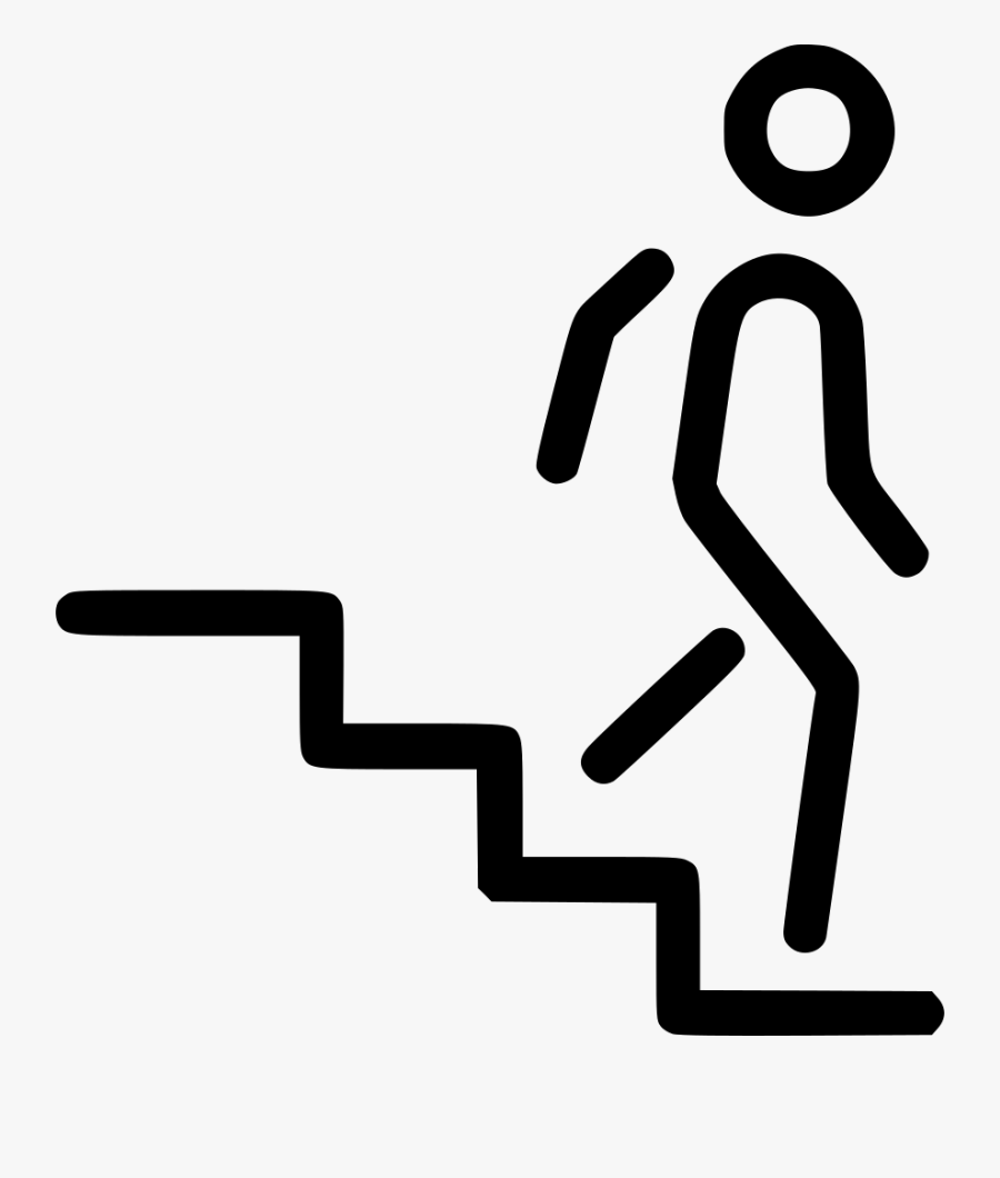 Transparent Person Walking Up Stairs Png.
