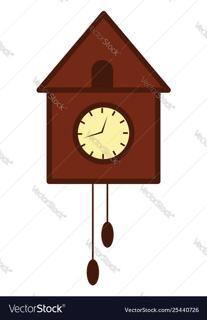 Clipart wooden bird tree wall clock or.