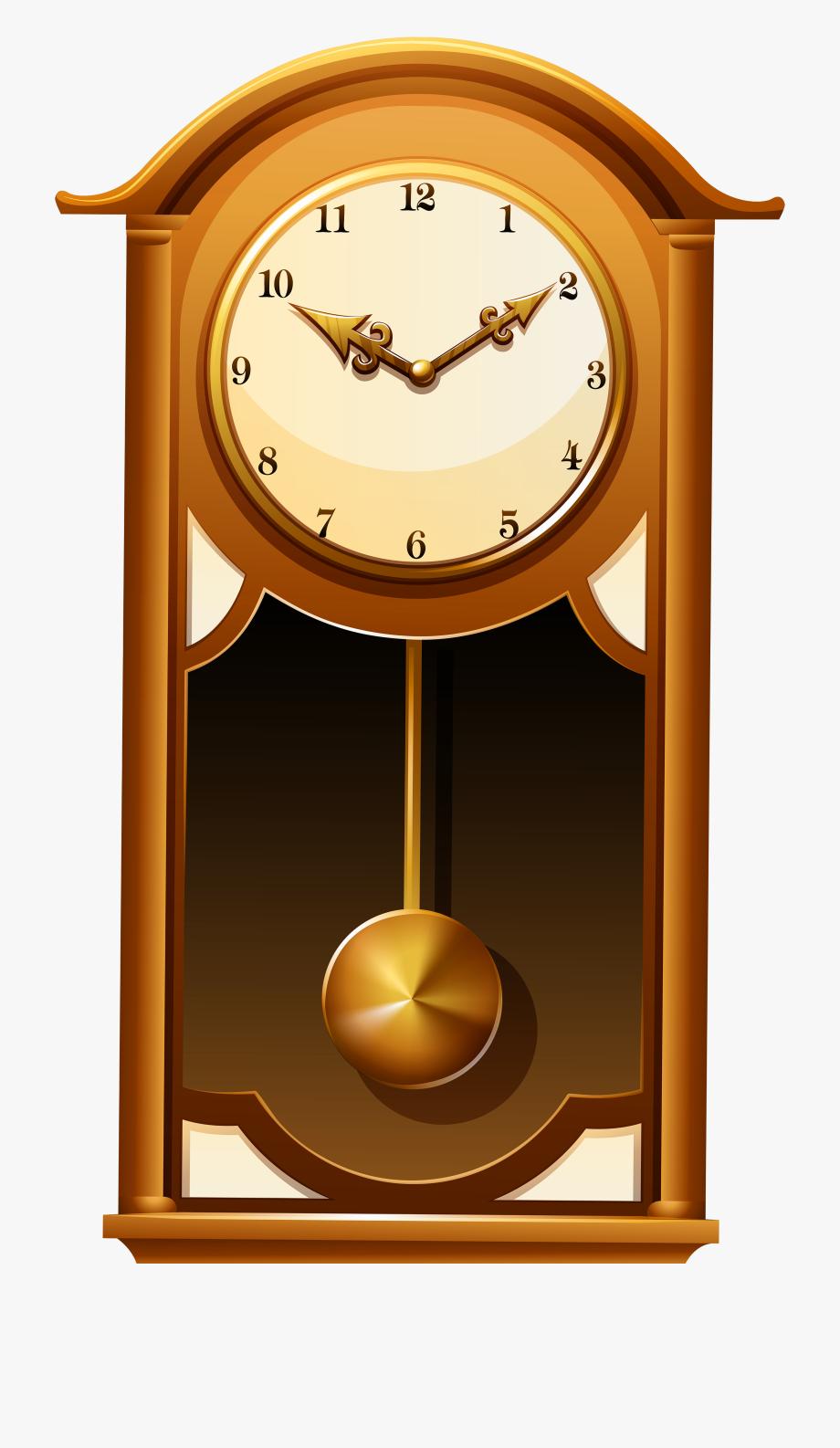 Antique Wall Clock Png Clip Art.