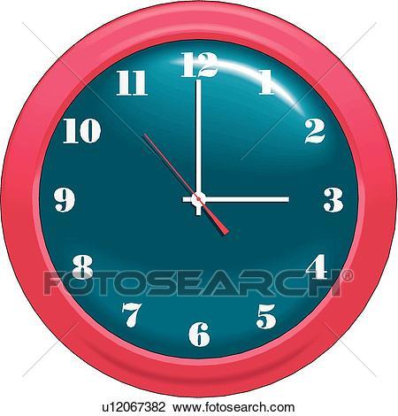 Wall Clock Clipart.