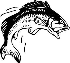 walleye jumping out of water silhouette.