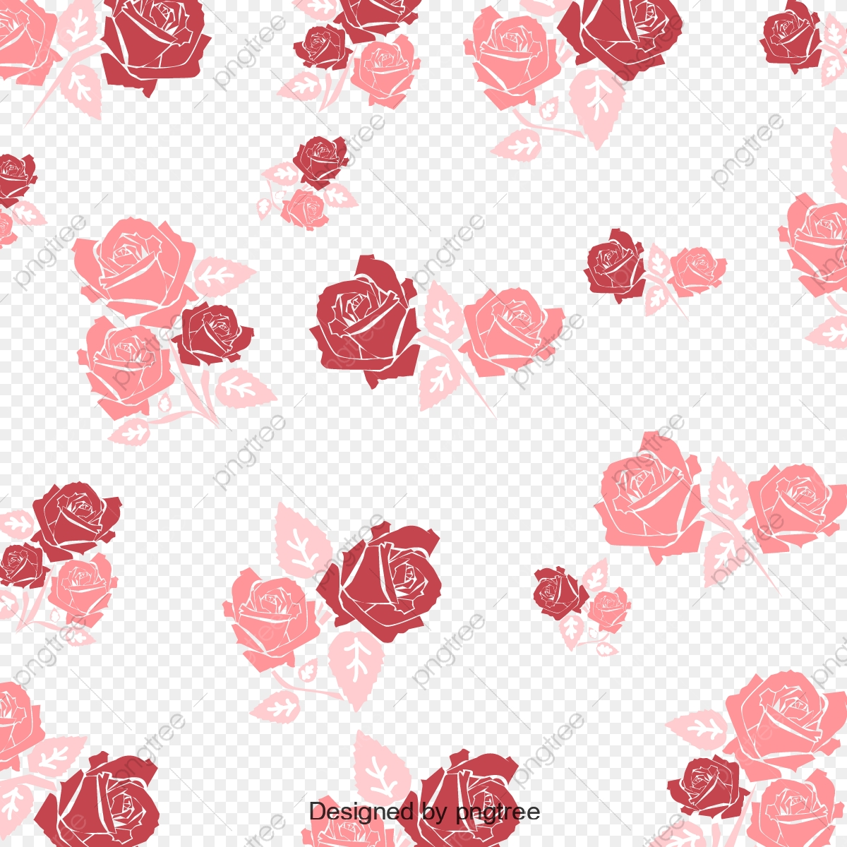 Rose Pattern Wallpaper Background, Rose Vector, Pattern Vector.