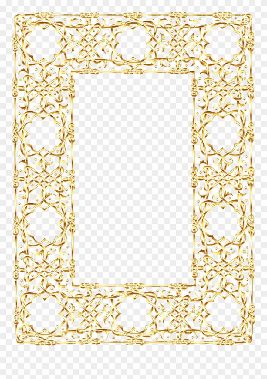 Gold Frame With No Background Clipart Desktop Wallpaper.