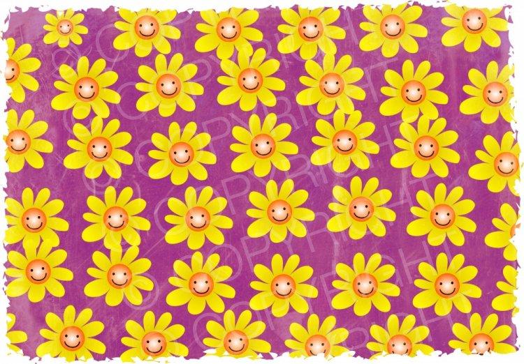 Grunge Flower Wallpaper Background.