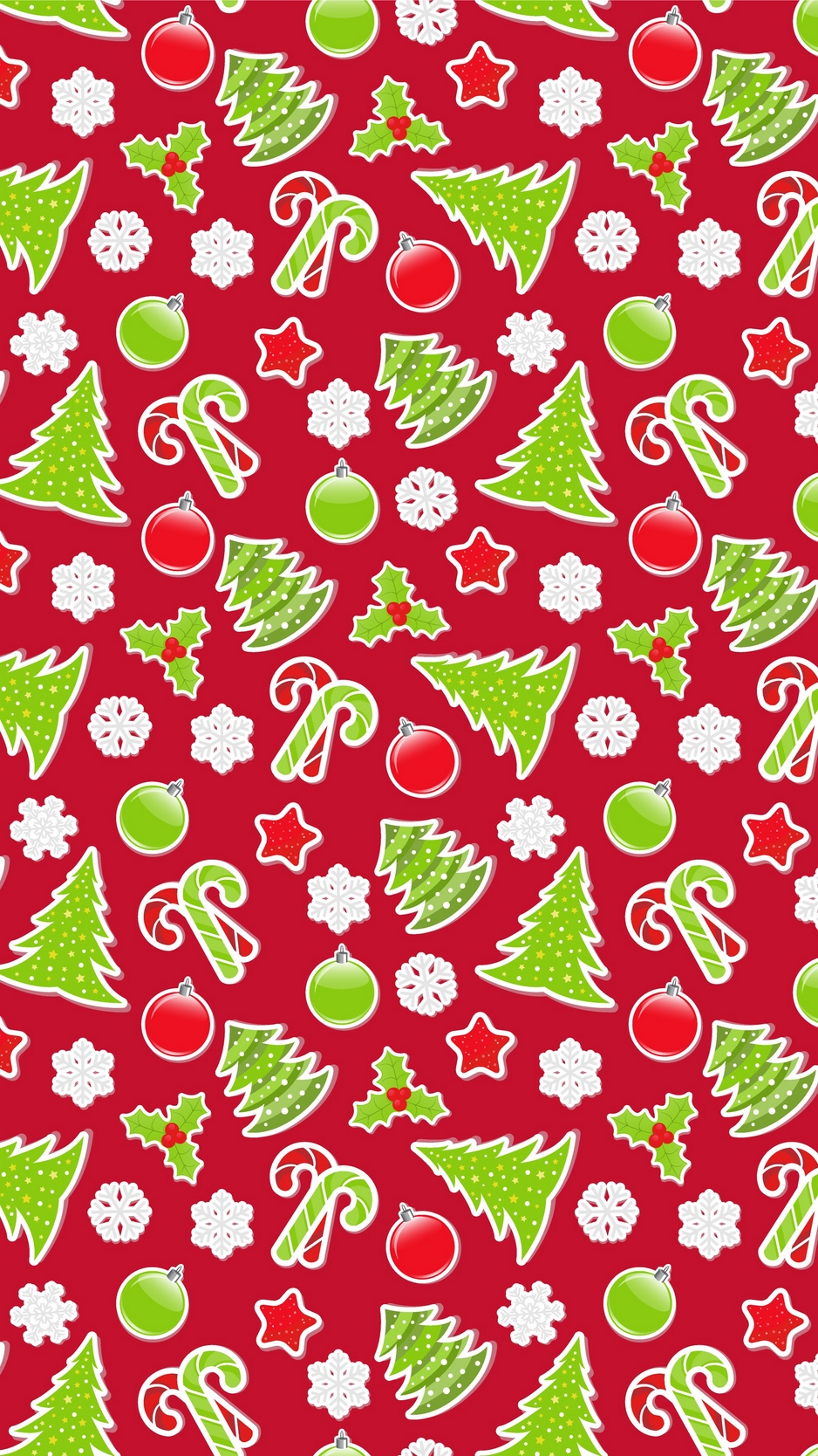Download wallpaper 938x1668 pattern, christmas, new year.