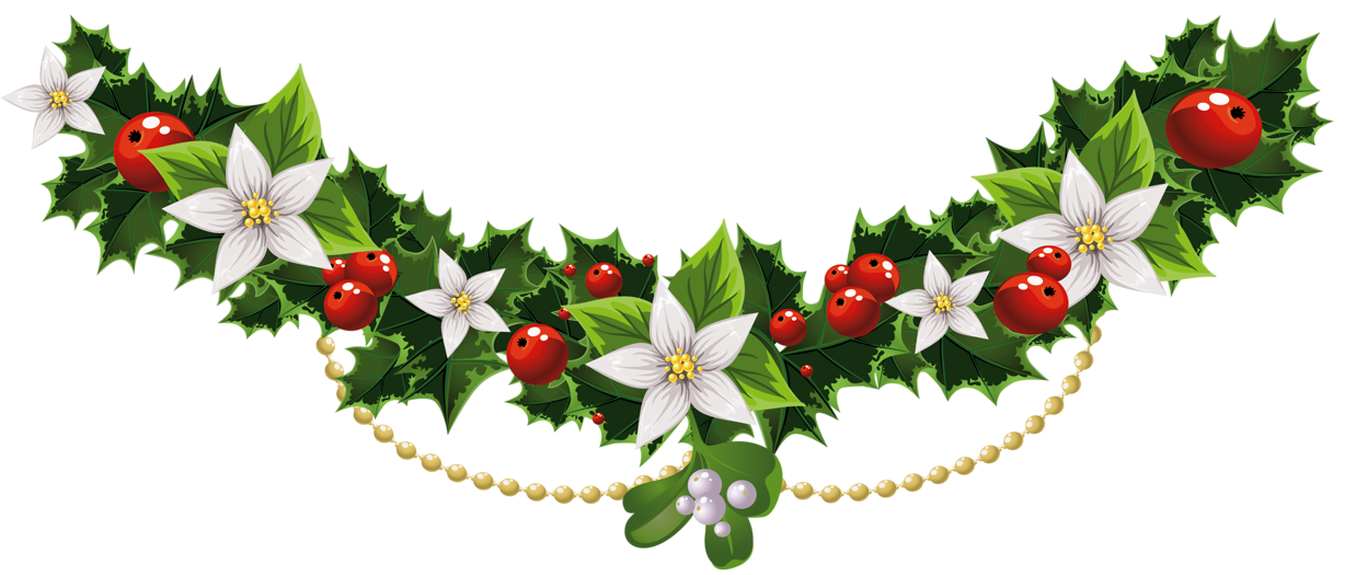 Card & Wallpapers Free Christmas Garland Download clipart.