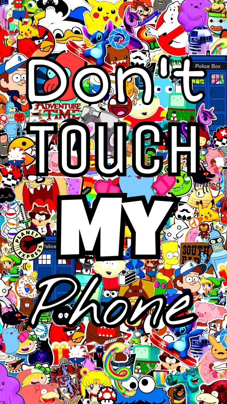 wallpaper phone donttouch my colorful cute interesting.