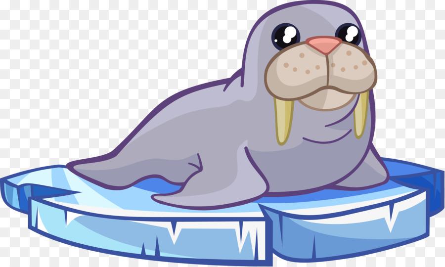 234 Walrus free clipart.
