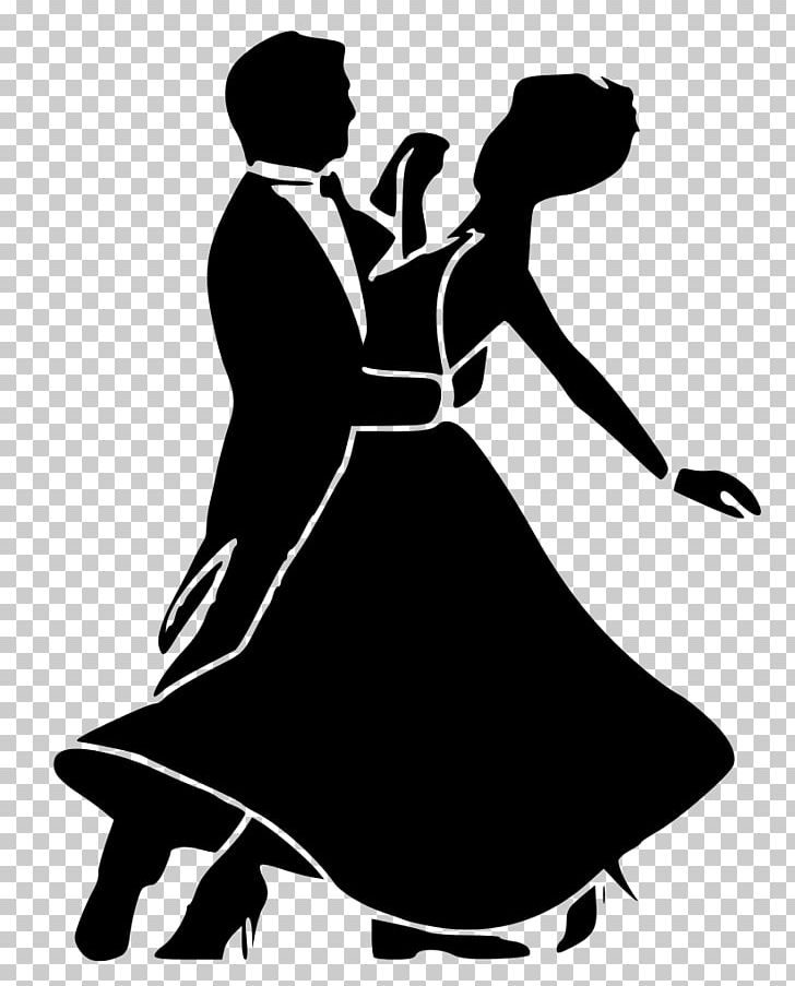 Ballroom Dance Social Dance Waltz Black And White PNG.