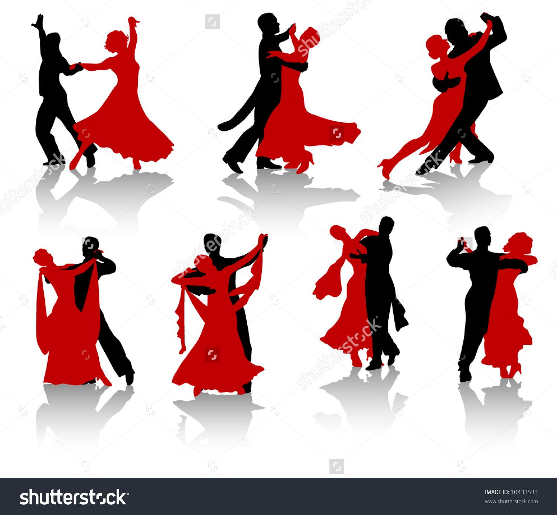 People Ballroom Dancing Clipart.
