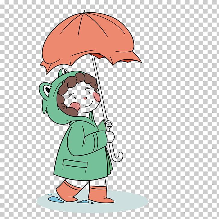 Euclidean Umbrella, wandering in the rain PNG clipart.