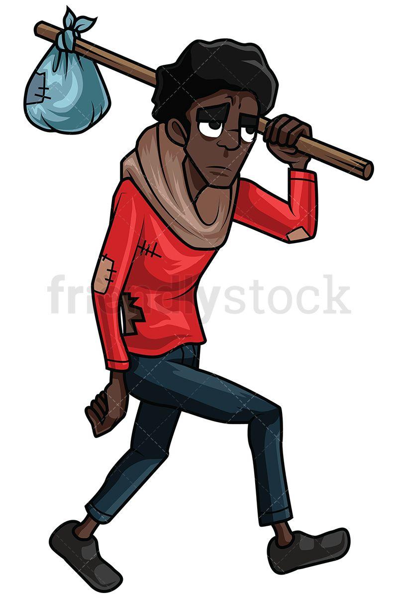 Wandering Homeless Black Man in 2019.