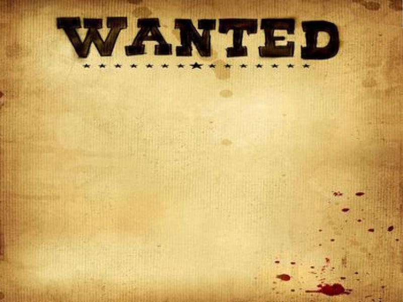 Wanted Poster Abstract Clipart Backgrounds for Powerpoint.