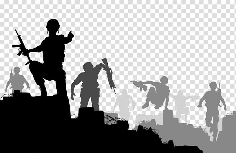 Soldier , Soldier War illustration Battle, Silhouette war.