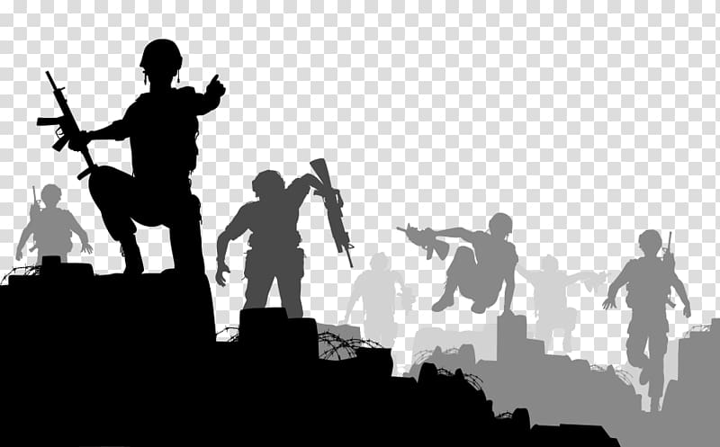 Silhouette Soldier War, Silhouette transparent background.