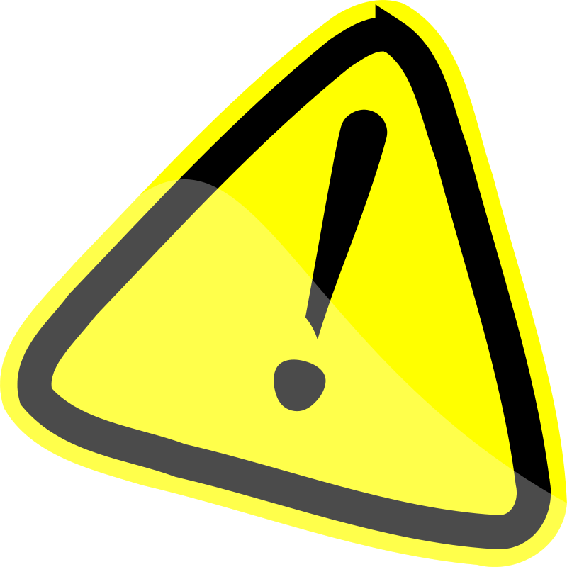 Free Clipart: Warning Sign.