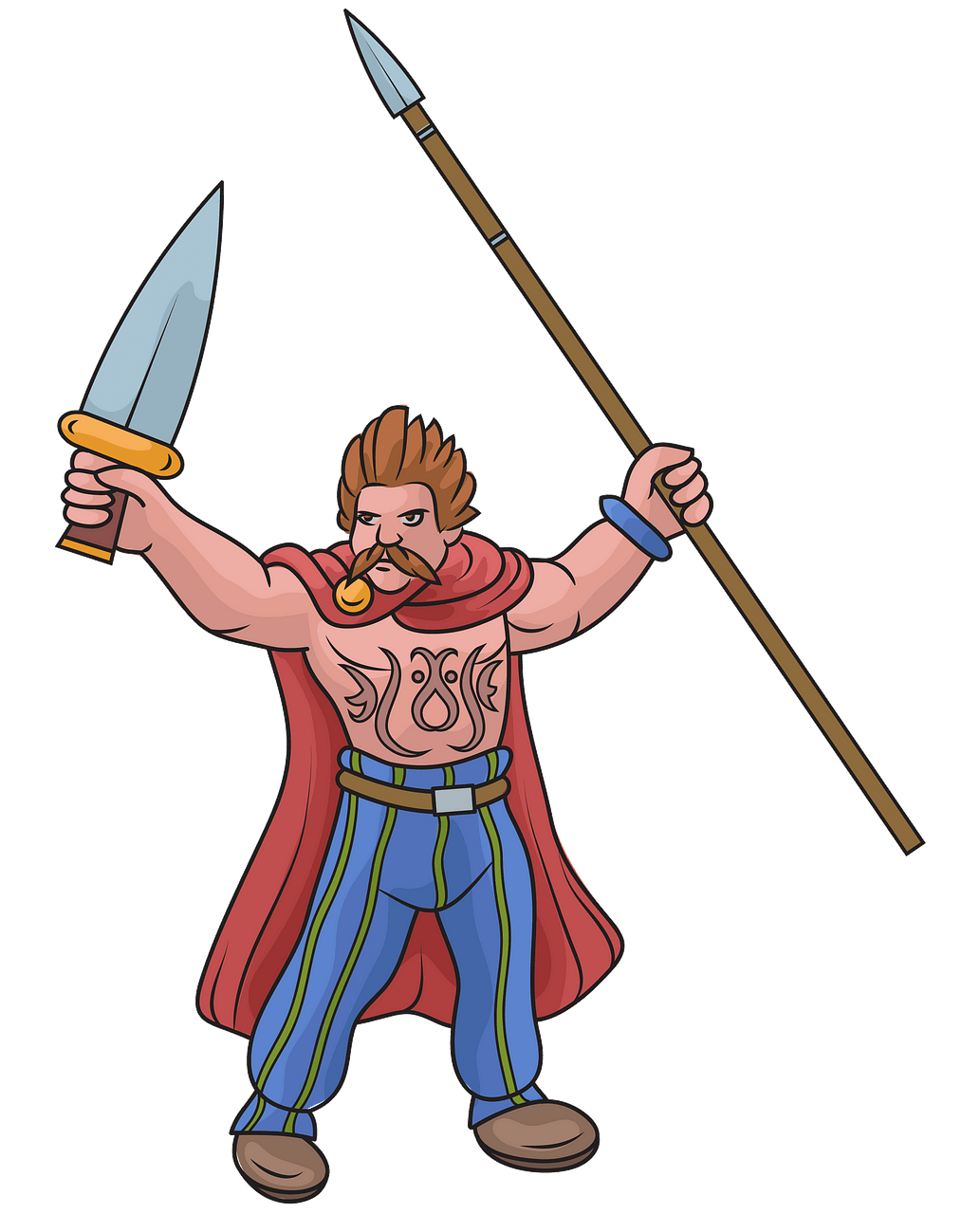 Celtic warrior clipart. Free download..