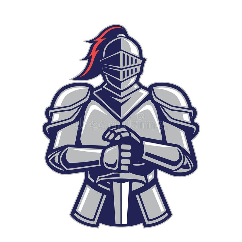 Warrior knight mascot. Clipart picture of a warrior knight.