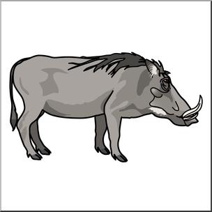 Clip Art: Warthog Color 2 I abcteach.com.