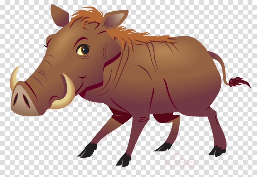 Common Warthog, Wild Boar, Cattle, transparent png image & clipart.