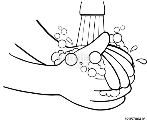 Wash hands clipart black and white 6 » Clipart Portal.