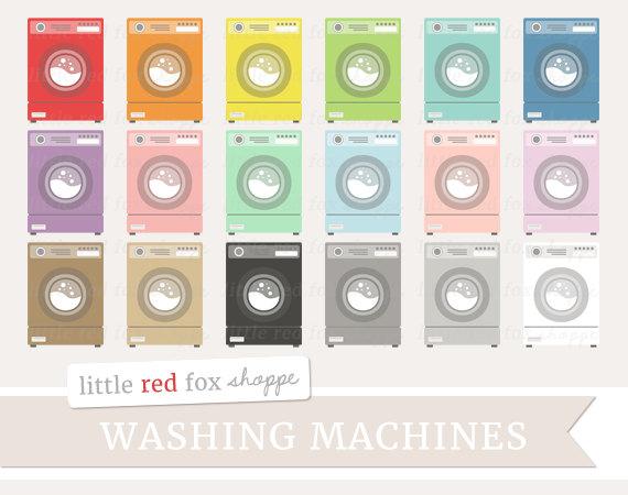 Washing Machine Clipart, Laundry Clip Art Washer Machines.