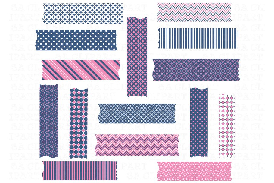 Washi Tape ClipArt ~ Illustrations ~ Creative Market.