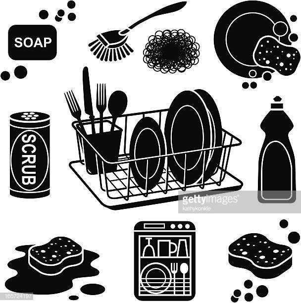 30 Top Washing Dishes Stock Illustrations, Clip art, Cartoons.