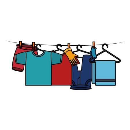 7,013 Washing Line Stock Vector Illustration And Royalty Free.