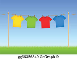 Washing Line Clip Art.