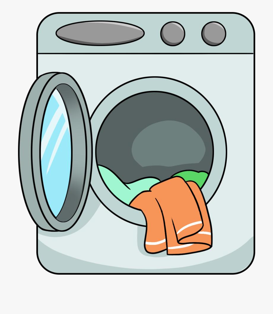 Washing Machine Clipart Washed Clothes.