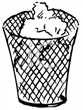 Royalty Free Clipart Image of a Wastebasket #177199.
