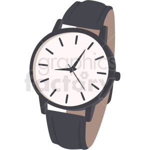 vector wrist watch no background clipart. Royalty.