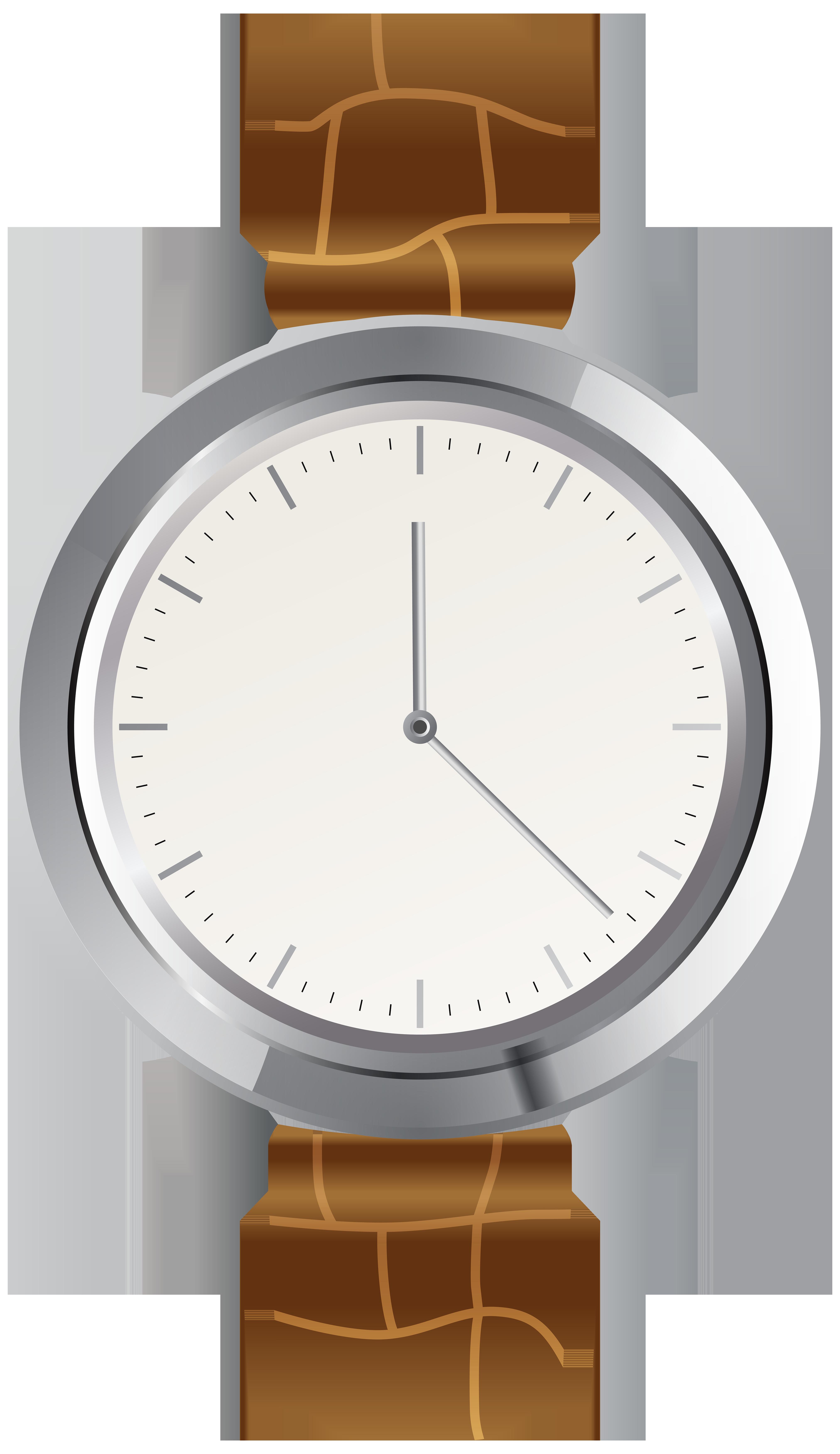 Brown Wrist Watch PNG Clip Art.