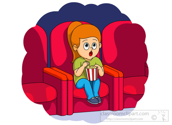 Girl Watching Movie Clipart.