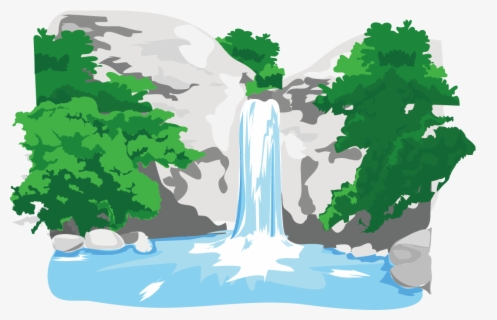 Free Waterfalls Clip Art with No Background.