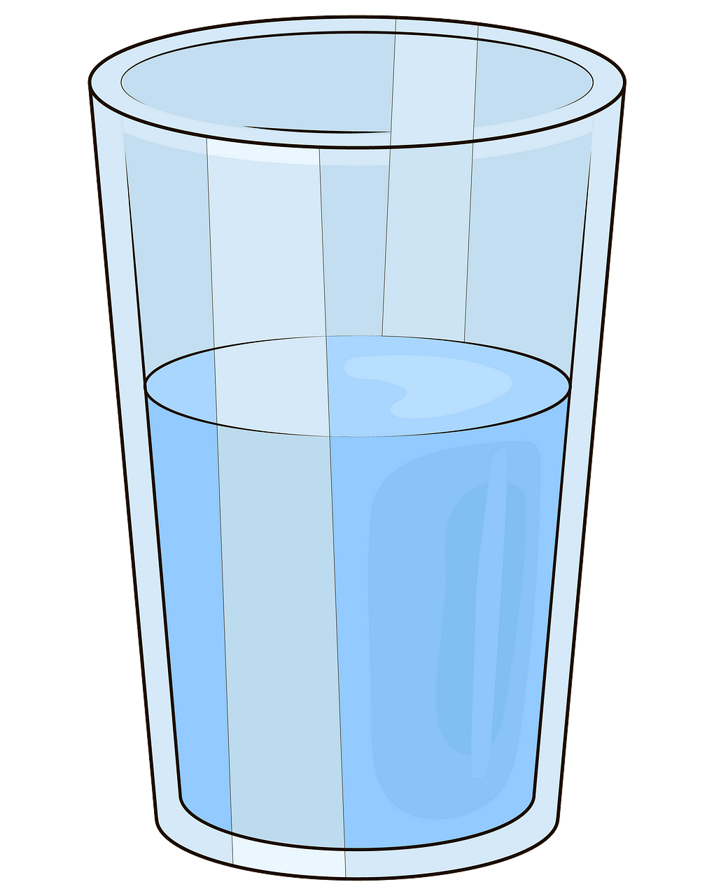 Glass of water clipart. Free download..
