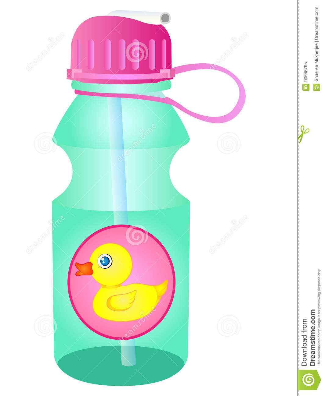 Vector Water Bottle Sipper stock vector. Illustration of object.