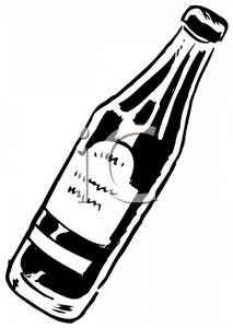 Water Bottle Clipart Black And White.