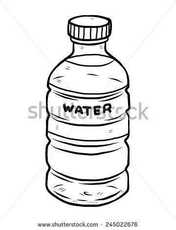 Water Bottle Sketch Stock Images, Royalty.