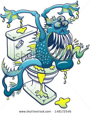 Clipart Dirty Toilet Water.