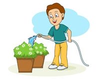 Watering Plants Clipart#1980556.