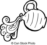 Water Pouring Out Of Vase Clipart.