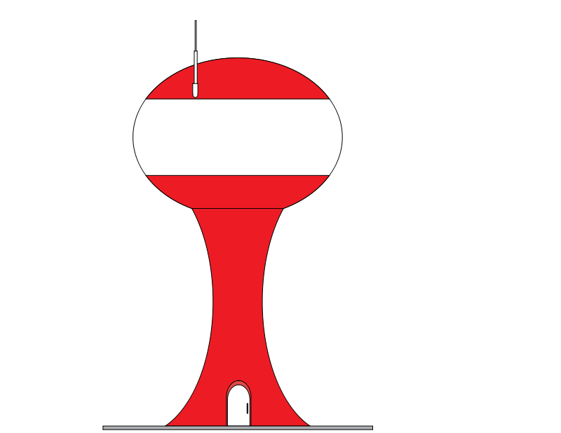 Free Clipart: Water Tower.