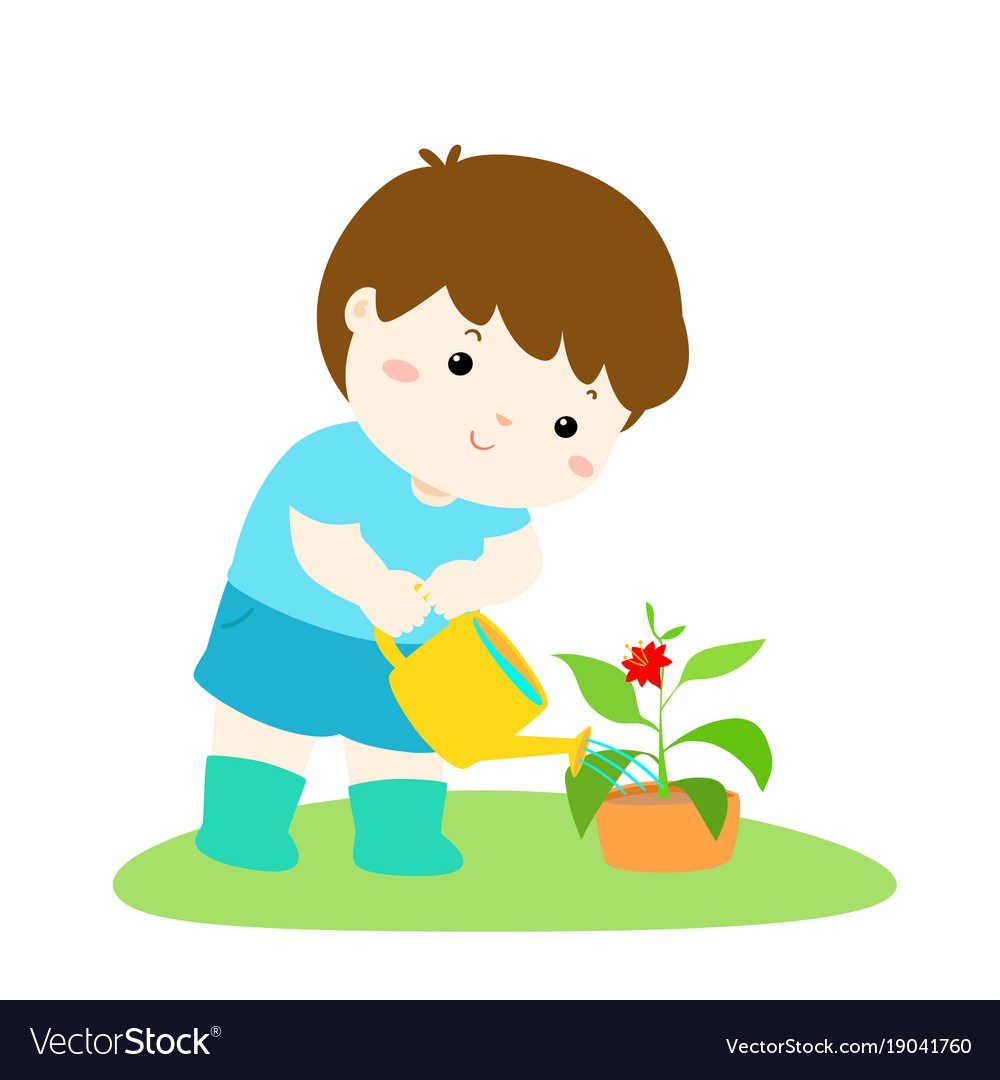 Child watering the plants clipart 9 » Clipart Portal.