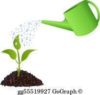 Watering Plants Clip Art.